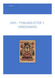 DHO Versaille | Tyskland efter 1. verdenskrig