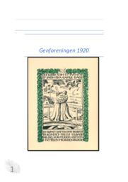 Genforeningen 1920 & Valgpropaganda   DHO