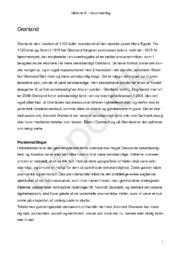 Historie Opgave | Om koloniseringen af Grønland