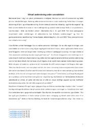 Virtuel undervisning under coronakrisen | Analyse & vurdering