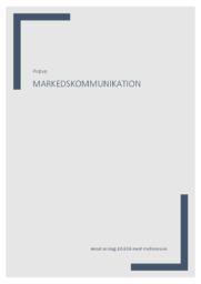 Markedskommunikation | Prøve