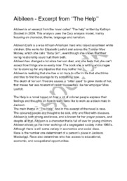 Aibileen – Excerpt from ''The Help''  Essay