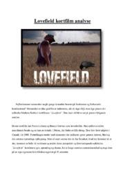 Lovefield kortfilm analyse | 12 i karakter
