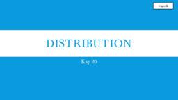 Distribution | 20 Kap | Afsætning