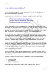 Hvad er kritiske succesfaktorer (KSF)? | Erhvervscase