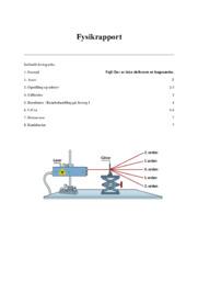 Bølgelængden af lyset | Fysikrapport