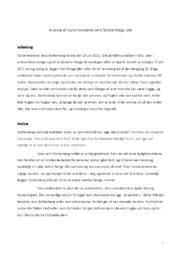 Analyse af statsministeren Jens Stoltenbergs tale