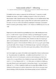 Naturen og mennesket | Analyserende artikel