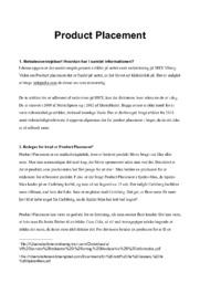 Product Placement | Afsætning