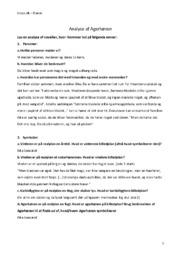 Agerhønen | Analyse | Noter