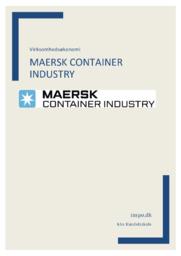 Mærsk Container Industry   Virksomhedsøkonomi