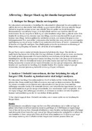 Burger Shack og det danske burgermarked   Afsætning