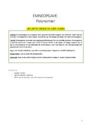 Polynomier | Matematik