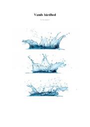 Vands hårdhed   Kemi rapport