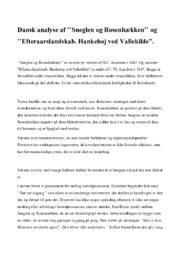 """Analyse af ''Sneglen og Rosenhækken'' & ''Efteraarslandskab. Hankehøj ved Vallekilde"""""""