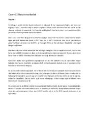 Benzinmarkedet | Case | Afsætning