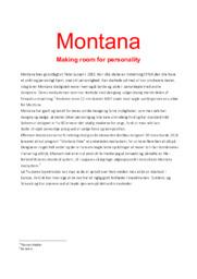 Montana | Afsætning aflevering