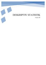 Deskriptiv Statistik | Matematik aflevering
