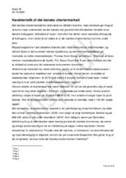 Karakteristik af det danske chartermarked | Afsætning opgave