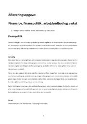 Finanslov, finanspolitik, arbejdsudbud og vækst | IØ
