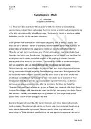 Skrubtudsen | Analyse og fortolkning | HC. Andersen