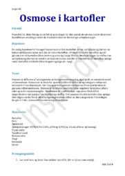 Osmose i kartofler | Biologi Rapport