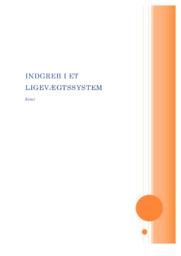 Indgreb i et ligevægtssystem   Kemi rapport