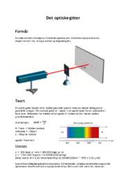 Det optiske gitter | Fysik rapport