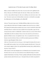 """The myth of a pure society"" | Analytical essay | Diane Abbott"