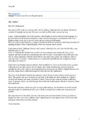 Formal e-mail for your English teacher   Engelsk opgave