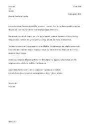 Querido familia de España   Spansk brev opgave