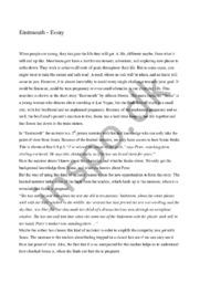 Eastmouth – Essay   10 i karakter