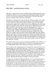 Billy Elliot | Analytical Essay