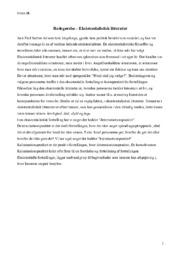 Eksistentialistisk Litteratur | Redegørelse
