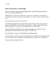 Eventmanager – Noter til erhvervscase