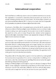 International Cooperation Comparison   Samfundsfag opgave