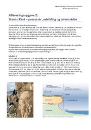 Stevns Klint | processer, udvikling & anvendelse | Naturgeografi