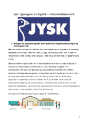 JYSK l Logistik – Virksomhedsøkonomi