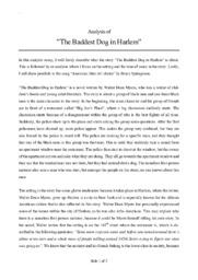 "Analysis of ""The Baddest Dog in Harlem"""