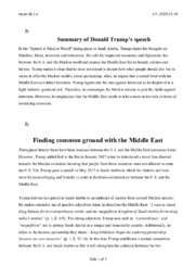 Finding common ground with the Middle East   Analyse