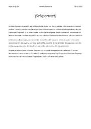 Selvportræt | Tysk aflevering