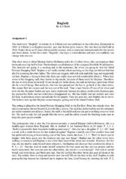 Baglady   Analyse    By A.S Byatt