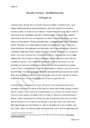 Knokkelmanden – Aldrig giv op   Analyse
