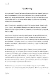 Støv | Analyse | Olivia Levison