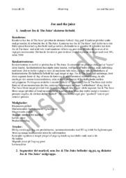 Joe and the Juice Case | Afsætning