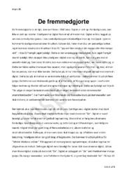 De fremmedgjorte | Digtanalyse