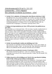 USA's baggård Den cubanske revolution og reformer eller?