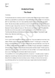 The Road | Analytical Essay