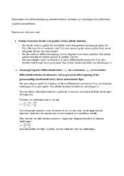 Emneopgave om differentialregning, monotoniforhold, ekstrmaer….