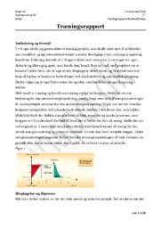 Træningsrapport: Fodboldfitness | Idrætsprojekt